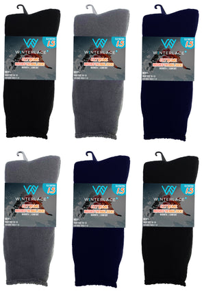 Men's Brushed Thermal Socks - Assorted (6 Pack)