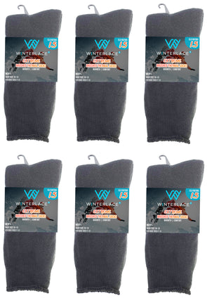 Men's Brushed Thermal Socks - Gray (6 Pack)