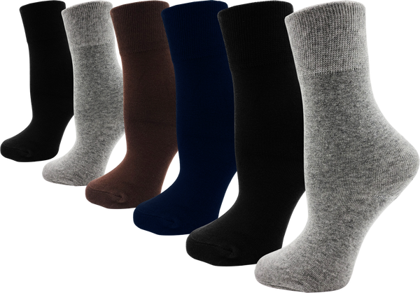 Women's Bamboo Dress Socks - Assorted (6 Pack)