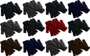 Adults Assorted Fingerless Winter Magic Gloves (12 Pack)