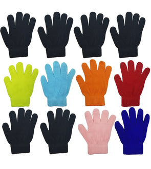 Children's Assorted Magic Gloves (12 Pack)