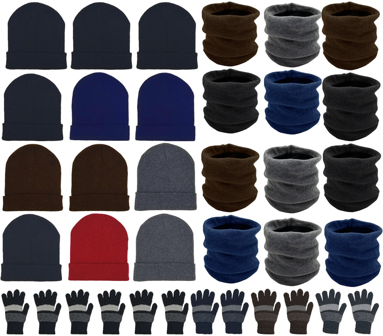 Assorted Beanies & Gloves & Neck Gaiters - Combo Bundle