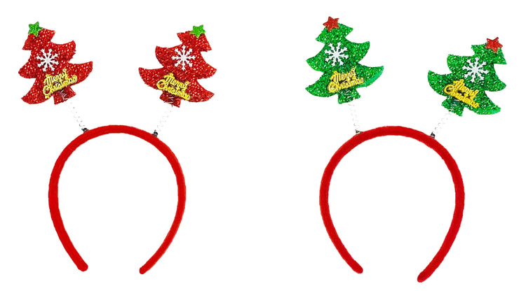 Christmas Headbands - Double Christmas Tree (2 Pack)