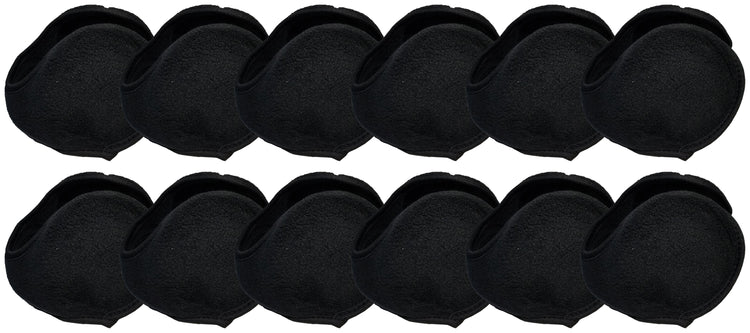 Foldable Earmuffs - Black (12 Pack)