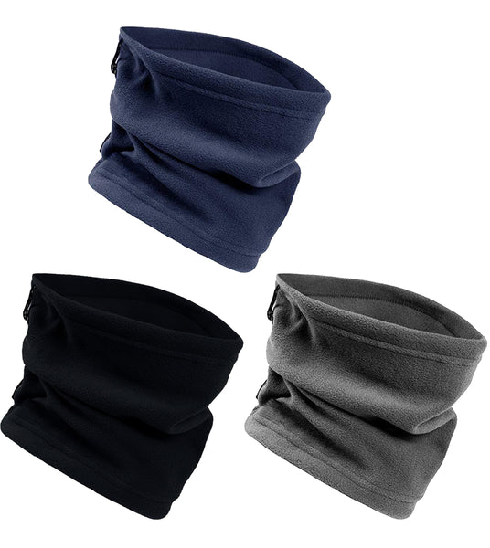 Fleece Lined Neck Warmers / Face Cover - Assorted (3 Pack)
