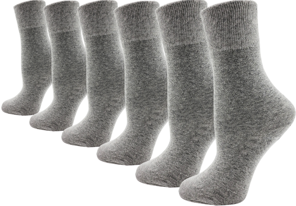 Women's Bamboo Dress Socks - Gray (6 Pack)