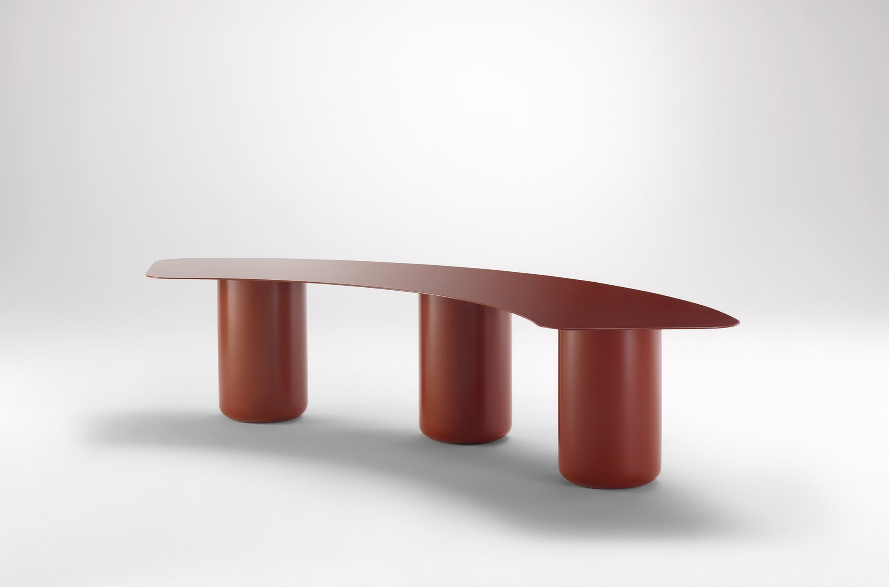 Sequence Curved Bench w/ Cushion
