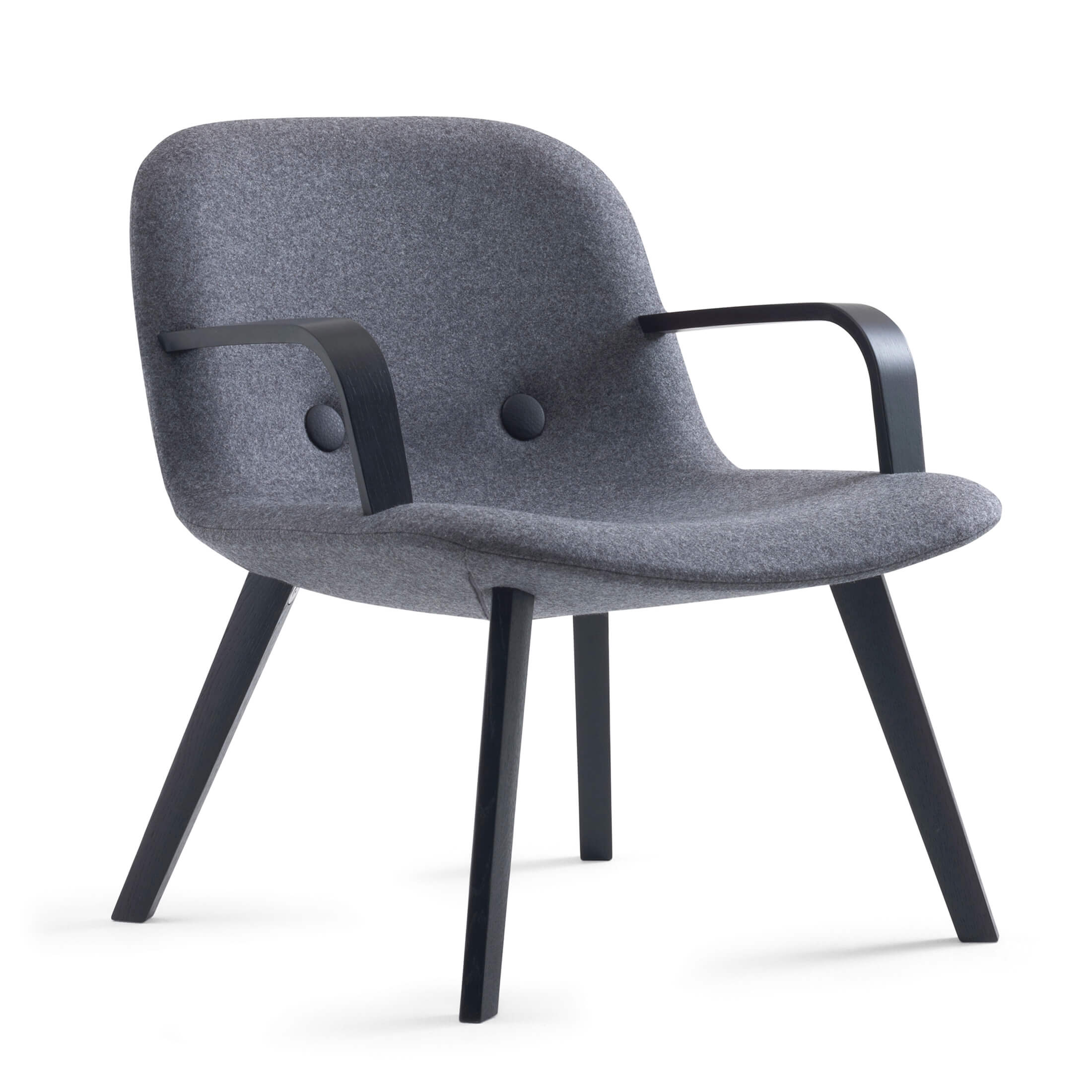 EJ3 - Eyes Wood lounge chair with arms