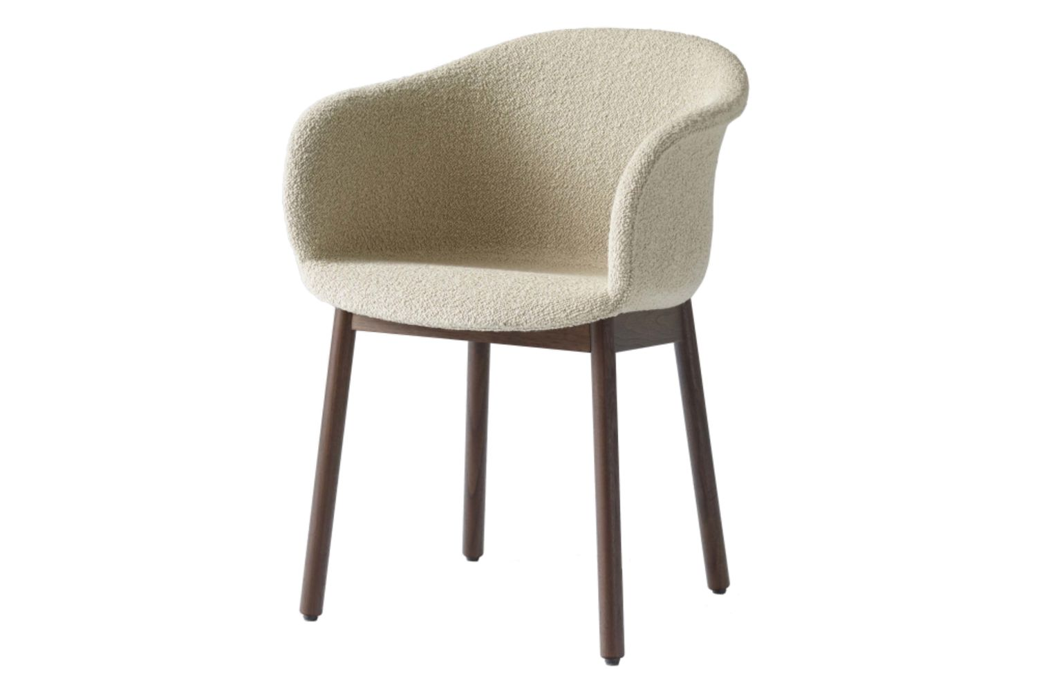 Elefy Chair, wooden base, Upholstered