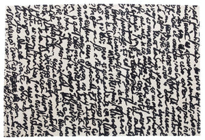 Black on White Manuscrit - 200x300cm