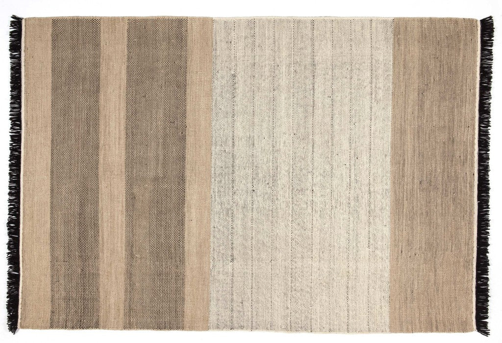 Tres Stripes Black Rug - 80x240cm