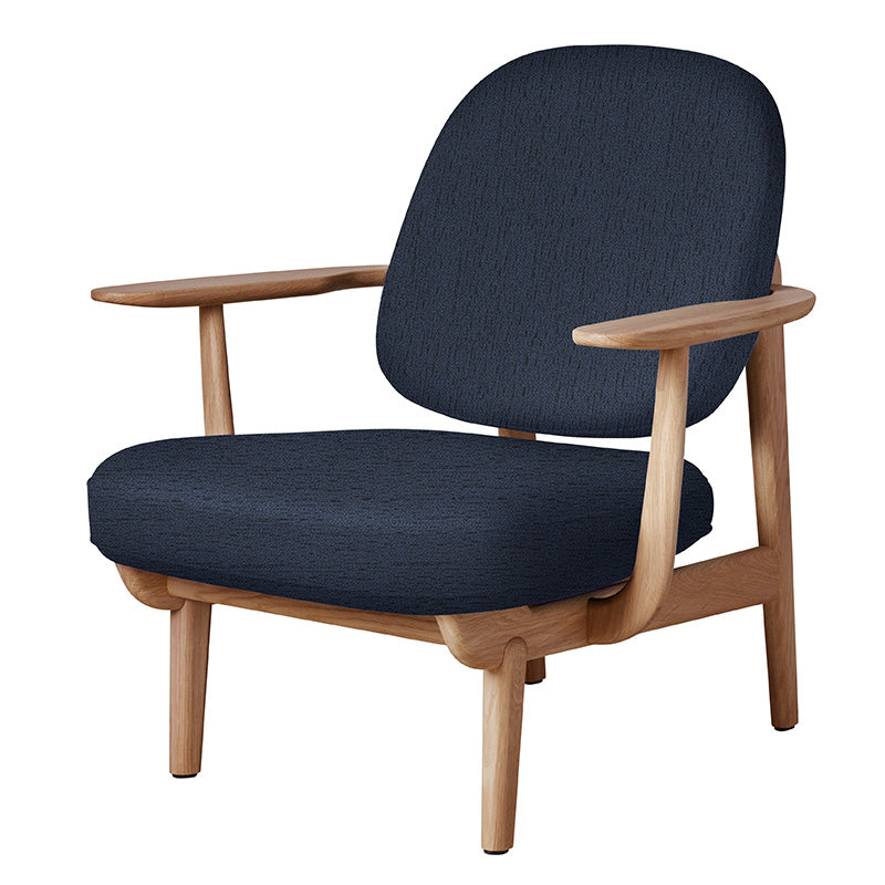JH97 Fred Easy Chair navy/oak