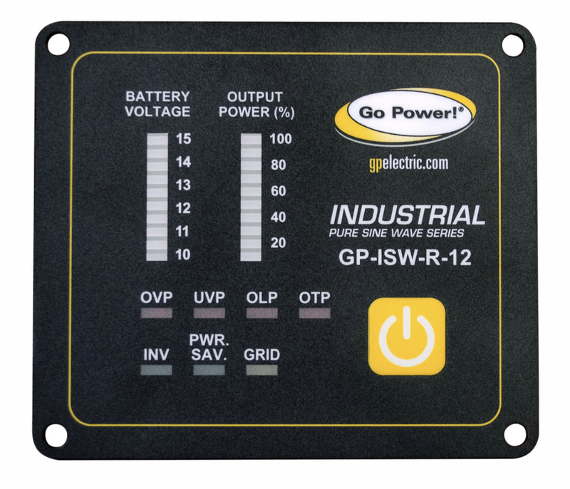 GO POWER REMOTE FOR ISW SERIES OF INVERTERS - 12V