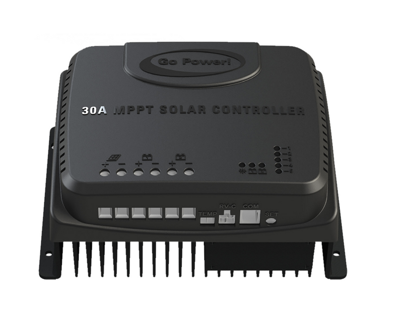 GO POWER 30 AMP MPPT SOLAR CONTROLLER WITH RV-C