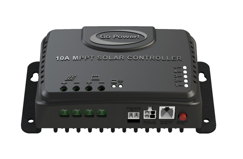GO POWER 10 AMP MPPT SOLAR CONTROLLER WITH RV-C