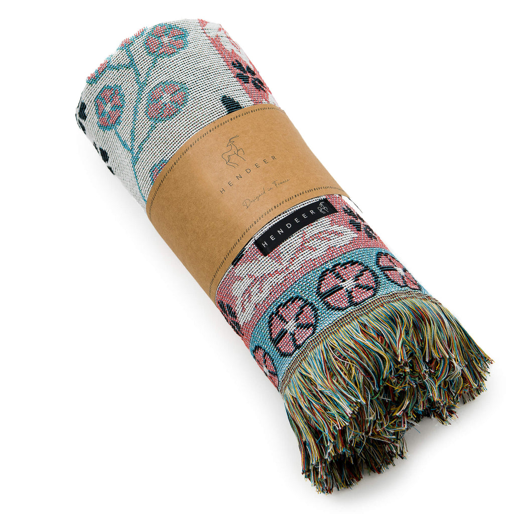 All You Need Is Love Woven Cotton Throw and Picnic Rug packaging