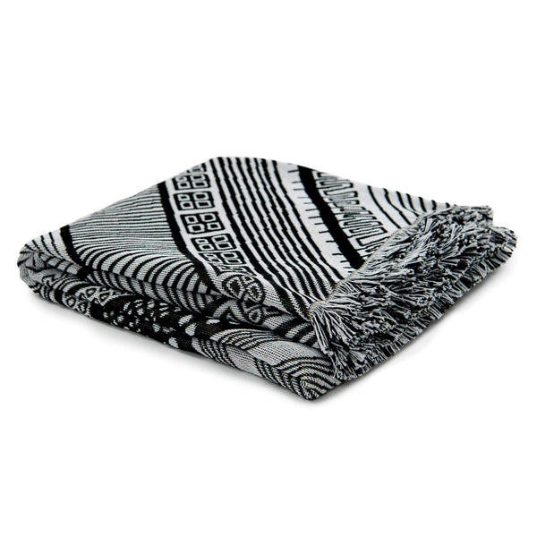 Dizzy Miss Lizzy Cotton Woven Throw and Picnic Rug