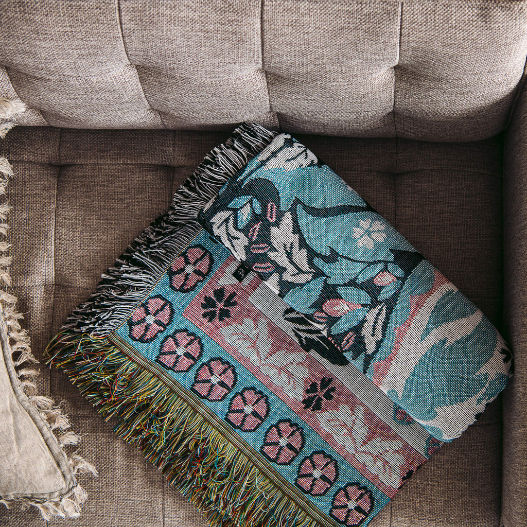 All You Need Is Love Woven Cotton Throw and Picnic Rug