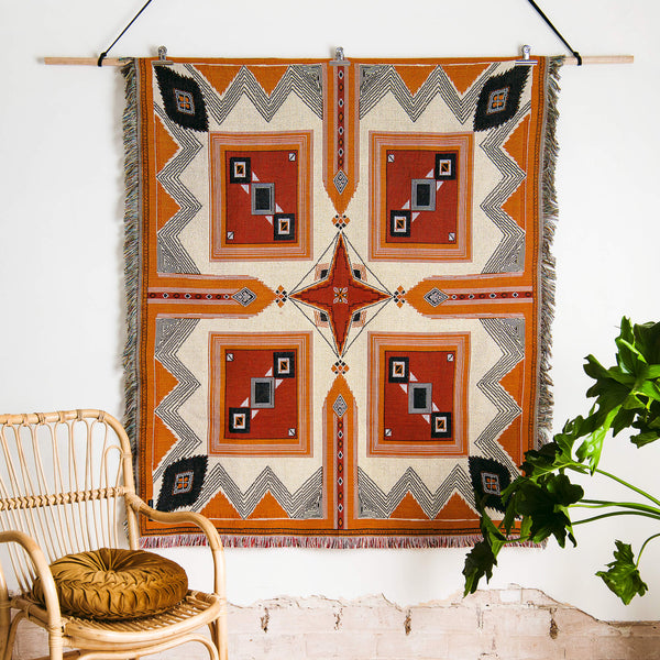 Come Together Cotton Woven Throw and Picnic Rug