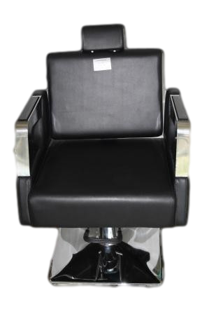 Barber Chair 6233- Reclining Black