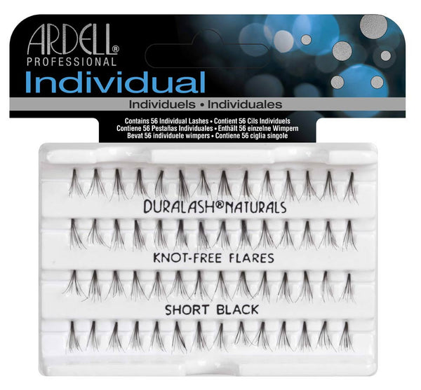 Individual Knot Free Short Black Eye Lashes- 65050