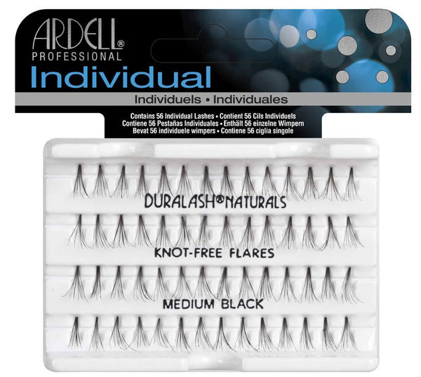 Individual Knot Free Medium Black Eye Lashes- 65052