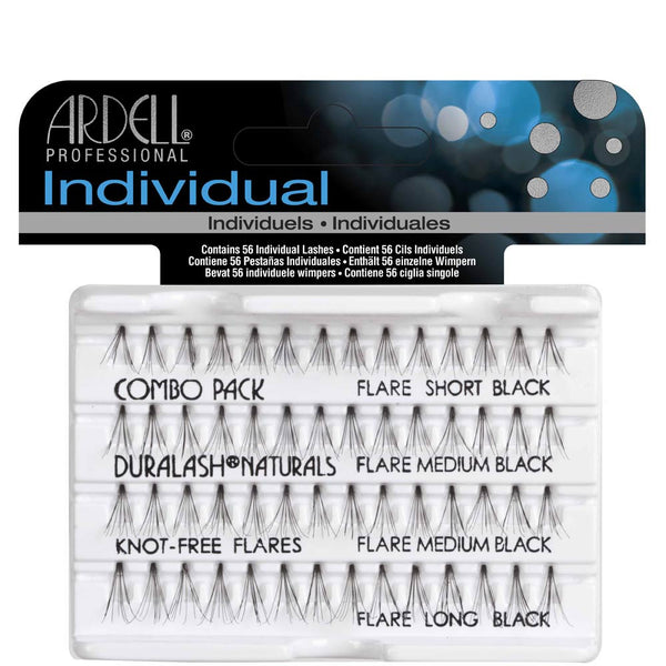 Individual Knot Free Natural Long Black Eye Lashes- 65054