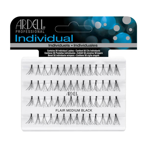 Individual Flare Medium Black Eye Lashes- 65097