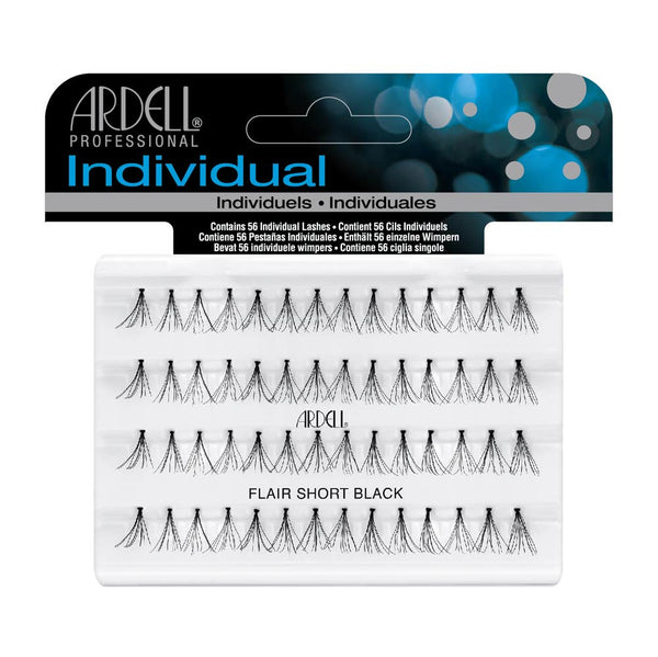 Individual Flare Short Black Eye Lashes- 65095