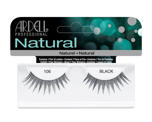 Natural Strip Lashes106 Black- 60610