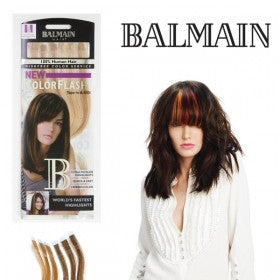 Color Flash Human Hair 25cm - Dark Red & Warm Caramel