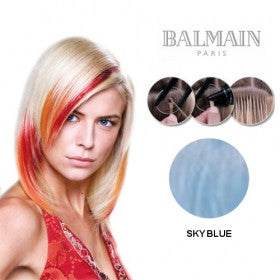 Extension Human Hair Straight Plusbond Sky Blue (45cm) - 10 Unit