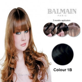 Extension. Human Hair  Natural Straight 1B (45cm)- 10 Unit