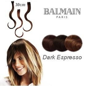 Hair Make Up Color Accents 30cm Dark Expresso - 03 Pcs