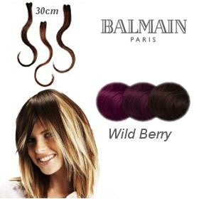Hair Make Up Color Accents 30cm Wild Berry - 03 Pcs