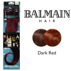 Clip Tape Extension Human Hair 40cm Dark Red - 01 Unit