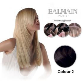 Extension Human Hair  Natural Straight 2 (45cm) - 10 Unit
