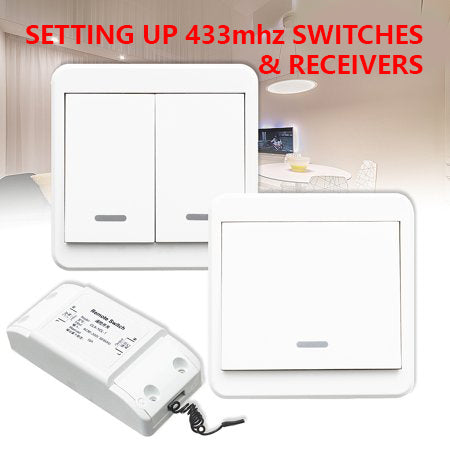 Setting Up a RF Light Switch(Transmitter) and Receiver