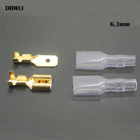 200PCS/50Pairs Female Male Spade Crimp Terminals