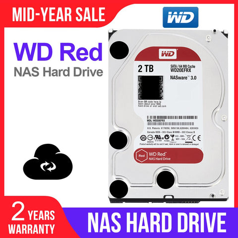 WD Red 2TB Network Storage NAS Hard Disk