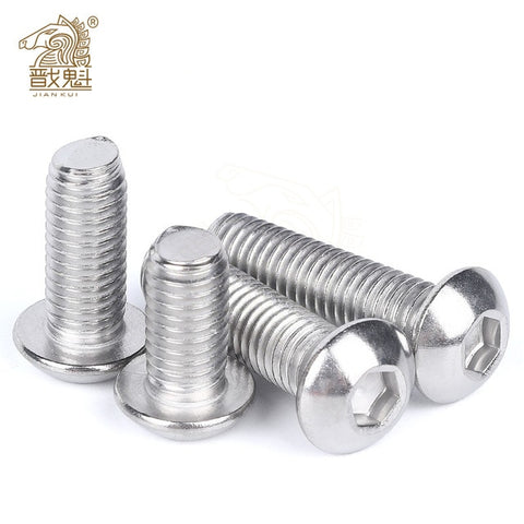 10/50pcs Stainless Steel Black Hexagon Bolt Screw