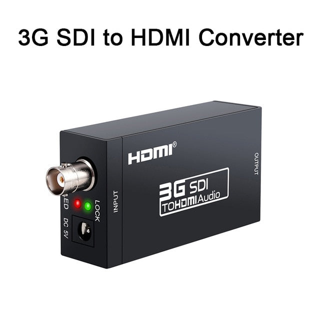 3G HDMI to SDI Converter / SDI to HDMI Adapter Audio HD-SDI/3G-SDI Adapter BNC 1080P DAC Converter for Monitor HDTV