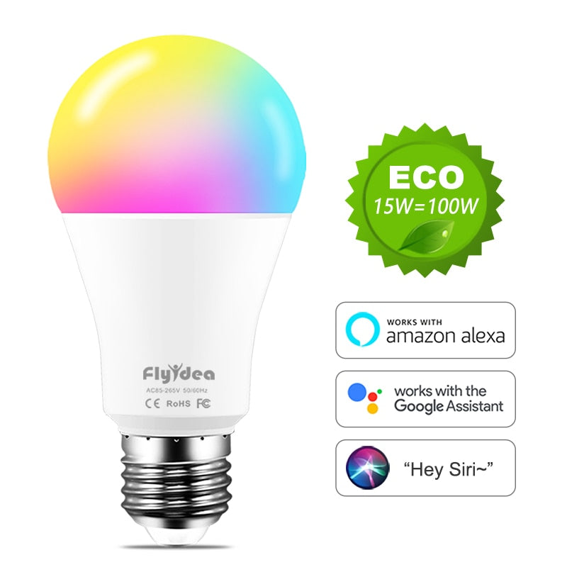 WiFi Bulbs E27 LED Smart Light Bulb (Color Changing)