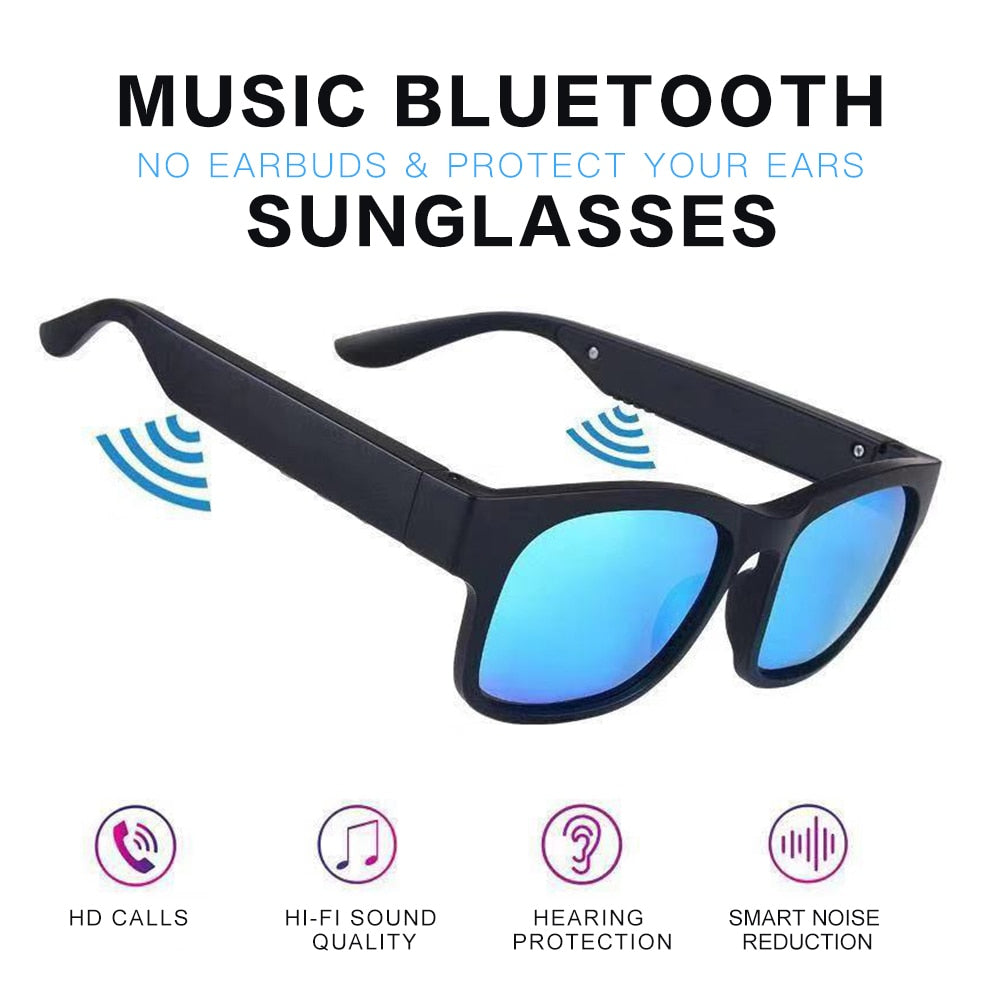 New Sunglasses with Bone Conduction Earset Bluetooth 5.0