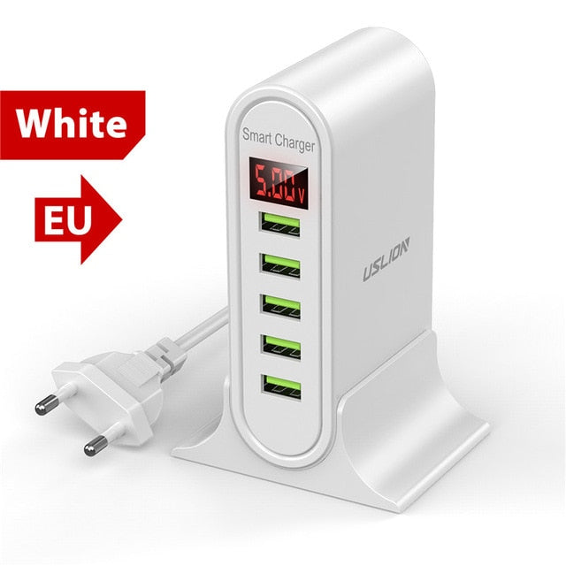 5 Port USB Charging Station