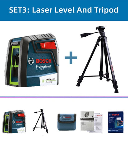 BOSCH Laser Level GLL30G Green Light Horizontal Vertical High Precision Two-Line Instrument Indoor Or Outdoor Automatic Leveling