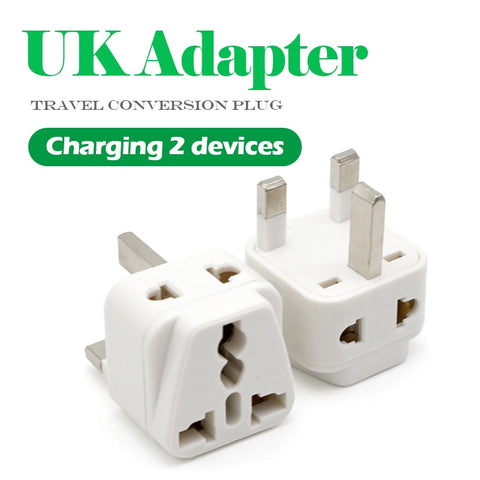 UK 3 Pin Travel Wall  Adapter