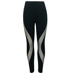 Women Leggings with Rainbow Reflective Workout Fitness Leggings