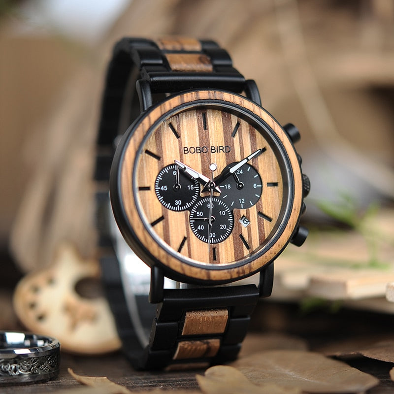 Wood Watch Men Quartz Wristwatch