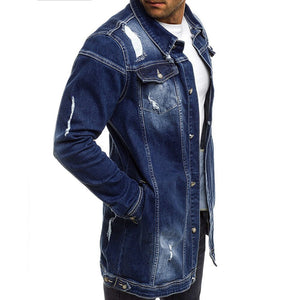 Men's autumn and winter casual retro washed denim jacket